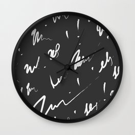 . Seamless scribble pattern Wall Clock