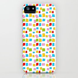 rectangle and abstraction 3-mutlicolor,abstraction,abstract,fun,rectangle,square,rectangled,geometri iPhone Case