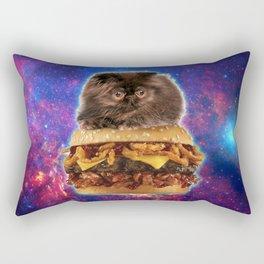 Burger Cat Rectangular Pillow