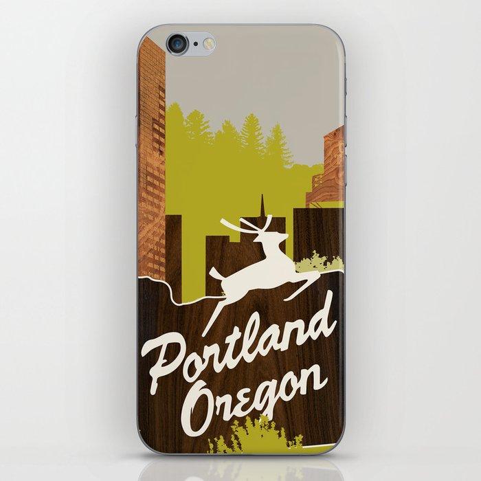 White Stag Sign, Portland Oregon iPhone Skin