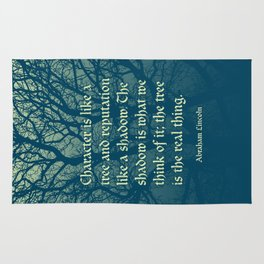 Tree of Character VINTAGE BLUE / Deep thoughts by Abe Lincoln Rug