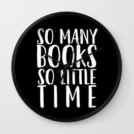 So many books so little time - Black Wall Clock
