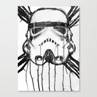 storm trooper Canvas Prints featuring storm trooper by ErDavid