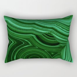GREEN MALACHITE STONE PATTERN Rectangular Pillow