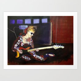 Legendary Female Guitarist: Carol Kaye Art Print