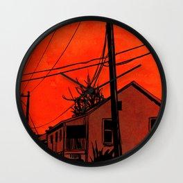 red sky 01 Wall Clock
