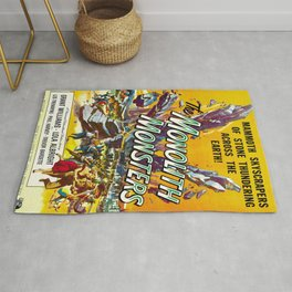 Vintage poster - The Monolith Monsters Rug