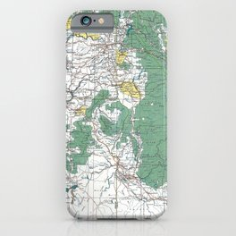 Pacific Northwest Map iPhone Case