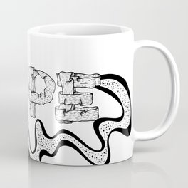 NOPE - Black and White Coffee Mug