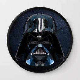 Low Poly Darth Vader Wall Clock