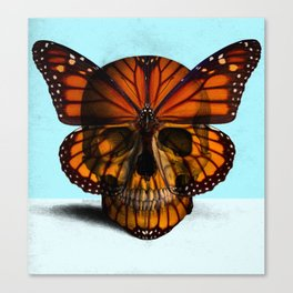 SKULL (MONARCH BUTTERFLY) Canvas Print