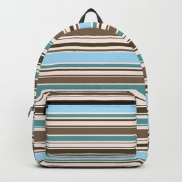 Perfect Line Collection - Browns & Blues Backpack