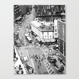 Street people in New York Canvas Print