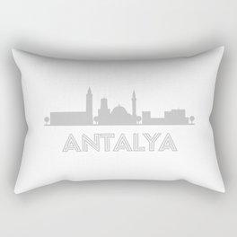 Antalya city skyline silhouette souvenir Rectangular Pillow