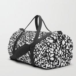 Terrazzo Spot 2 White on Black Duffle Bag