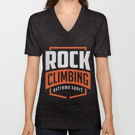 Rock Climbing Unisex V-Neck