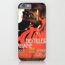 Vintage poster - Distillerie Italiane iPhone Case