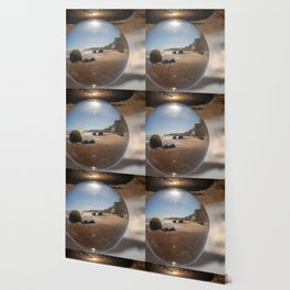 Beach Ball refraction photography with crystal ball Wallpaper