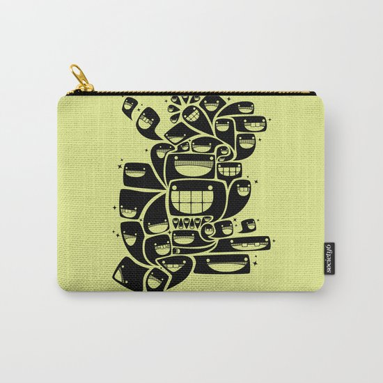 Happy Squiggles - 1-Bit Oddity - Black Version Carry-All Pouch