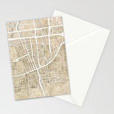 Boulder Colorado Watercolor Map Stationery Cards