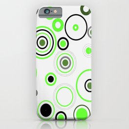 Green&Black combination iPhone Case