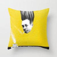 camus Throw Pillows featuring Albert Camus by Zmudartist