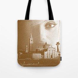 Venice woman. Sepia Engraving. Tote Bag