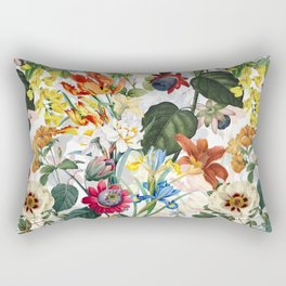 Vintage & Shabby Chic - Tropical Botanical Flower Garden  Rectangular Pillow