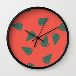 ARROWHEADS-RED Wall Clock