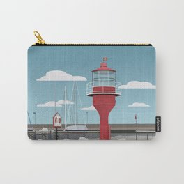 The lighthouse in the harbour in Skanor - light Carry-All Pouch