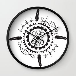Native Stem Mandala Wall Clock