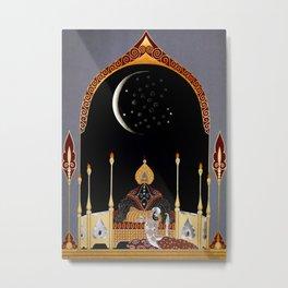 """Art Deco Exotic Design """"In the Casbah"""" Metal Print"""