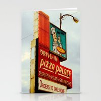 pizza Stationery Cards featuring Pizza by Hazel Bellhop