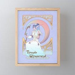 Art Nouveau Moon Goddess Framed Mini Art Print