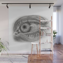 Pencil Eye Wall Mural