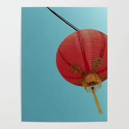 Chinese Lantern in Chinatown LA Poster