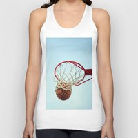 basketball Tank Tops featuring Basketball by KimberosePhotography