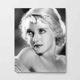 Bette Davis Eyes, Hollywood Starlet black and white photograph / black and white photography Metal Print