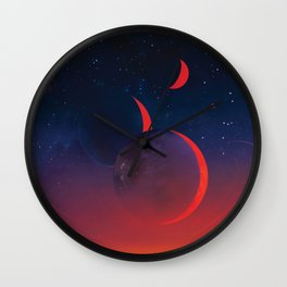 Planet Hop from TRAPPIST-1e Planet, 40 Light Years Away from Earth NASA Space Travel Poster Wall Clock