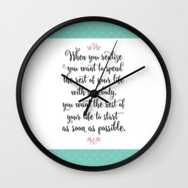 Quote from When Harry Met Sally Wall Clock