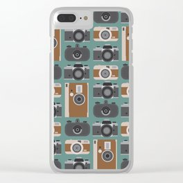 Analogue cameras Clear iPhone Case