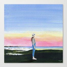 2017,sunset Canvas Print