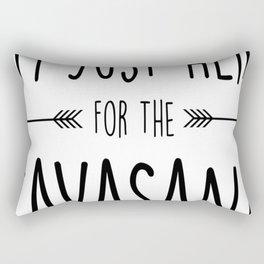 I'm Just Here For The Savasana Rectangular Pillow
