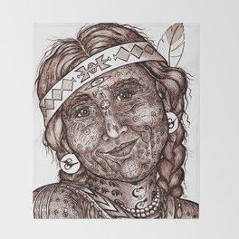 Wisdom Keeper Brown #27 (Altruism) Throw Blanket