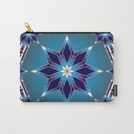 Morning Star Circle (Blue) Carry-All Pouch