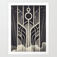 stargate Art Prints featuring DECO STARGATE by ChrisBrindley