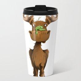 Moose Named Moe Metal Travel Mug