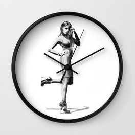 Xenia Tchoumitcheva - Fashion Girl Silhouette Wall Clock