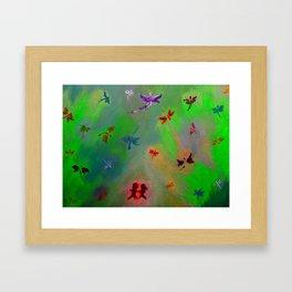 Dragonfly City Framed Art Print