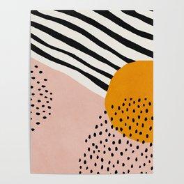 Abstract, Mid century modern art Poster